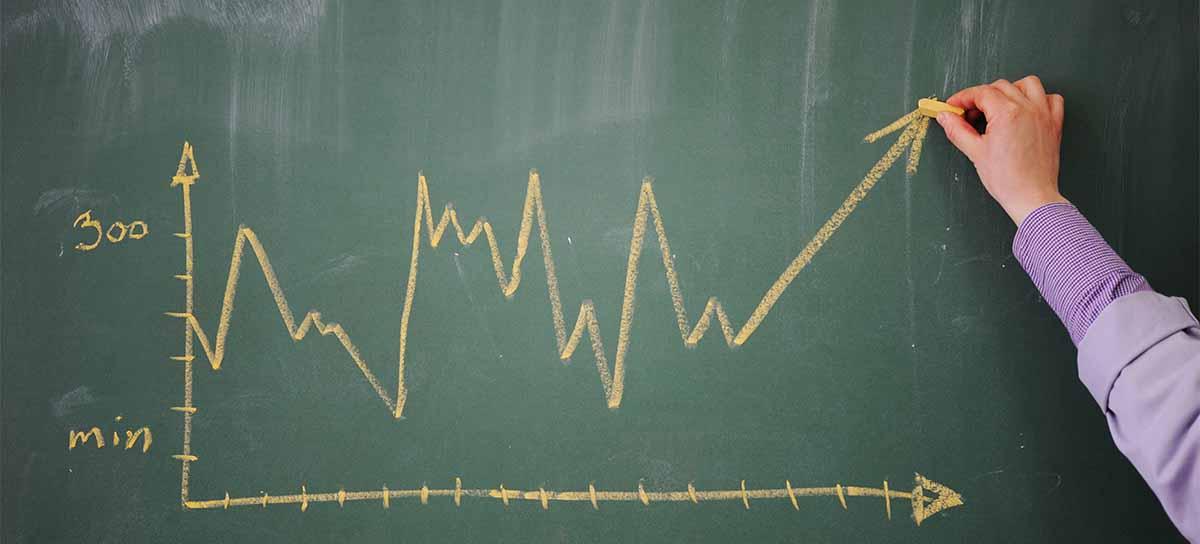 Marketing Diagram on a blackboard